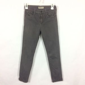 Madewell High Rise Skinny Jeans Gray Sz 25